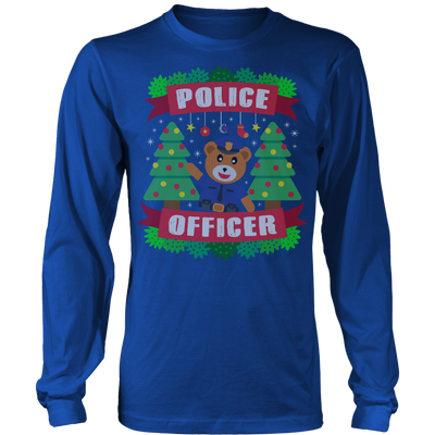 Police Officer Bear Ugly Christmas Shirts & Sweaters