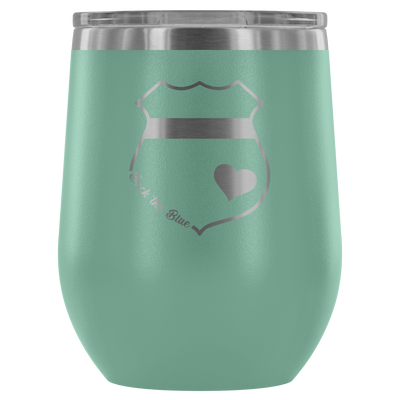 Back the Blue Wine Tumbler