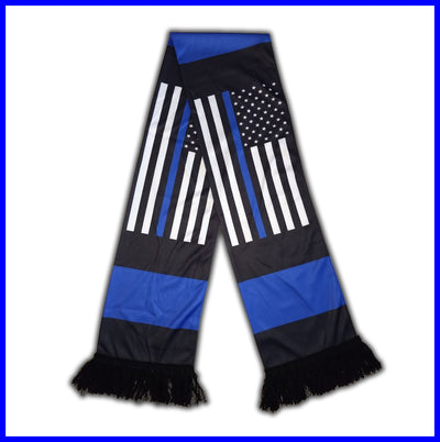 Thin Blue Line American Flag Scarf
