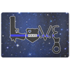 Love Thin Blue Line Door Mat