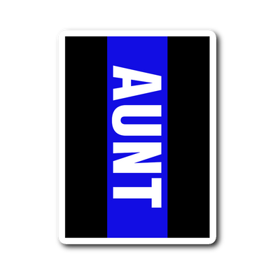 Thin Blue Line Aunt Decal Sticker