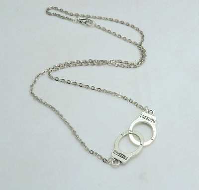 Beautiful Freedom Handcuff Necklace - 50% OFF