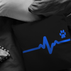 Thin Blue Line Heart Beat Paw Pillow