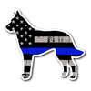 K-9 Belgian Malinois Thin Blue Line Flag Sticker