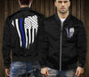 Thin Blue Line Flag Bomber Jacket