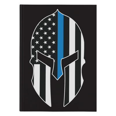 Thin Blue Line Spartan Journal Notebook - Hardcover