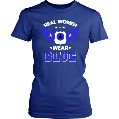 Real Women Wear Blue shirts and hoodies