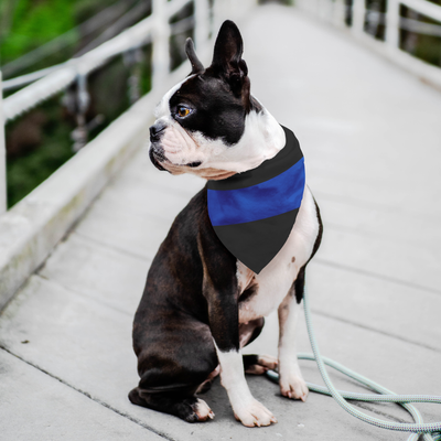 Thin Blue Line Pet Bandana