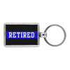 Thin Blue Line Retired Keychain