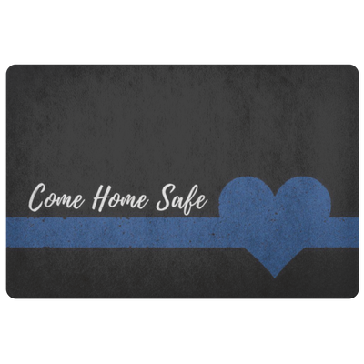 Come Home Safe Doormat - Black