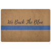 We Back The Blue Doormat
