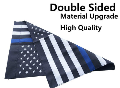 Thin Blue Line American Garden Flag 12.5 x 18 inches with or without Garden Pole