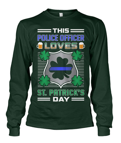 This Police Officer Loves St Patrick's Day Shirts and Hoodies