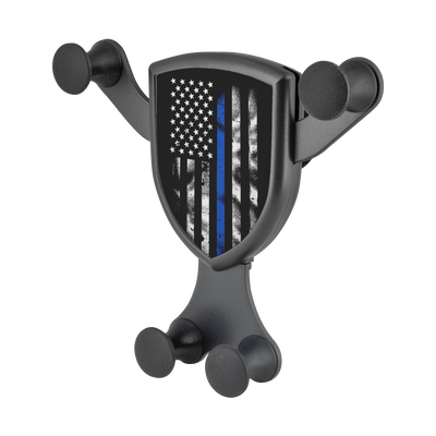 Thin Blue Line American Flag Gravitis - Wireless Car Charger