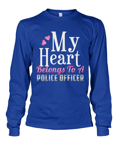 My Heart Belongs To A Police Officer Shirts and Hoodies