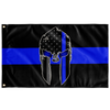 Thin Blue Line Spartan Flag