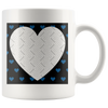 Blue Hearts Personalized Photo Frame Mug