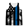 Tattered Thin Blue Line American Flag All Over Print Tank