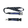 Thin Blue Line Stars and Stripes Lanyard