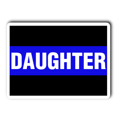 Thin Blue Line Daughter Decal Sticker