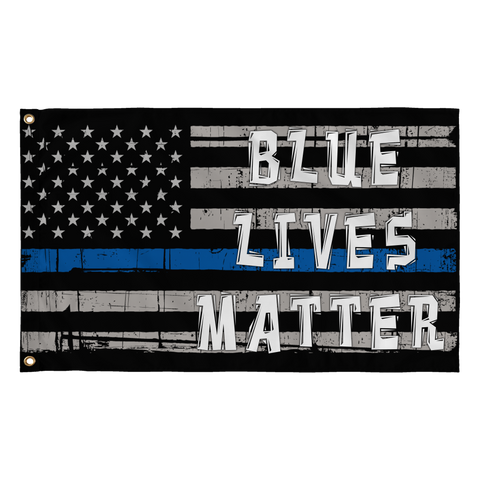 Blue Live Matter Thin Blue Line American Flag
