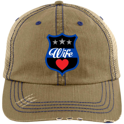 Thin Blue Line Wife Shield Trucker Hat