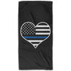 Thin Blue Line Heart Hand Towel - 15x30