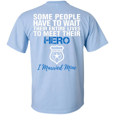 CONSTABLE HUSBAND - I MARRIED MY HERO SHIRTS & HOODIES