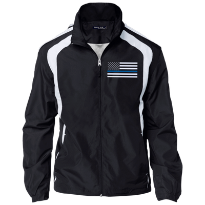 Thin Blue Line Jacket - American Flag - Black and White