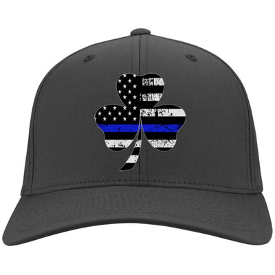 Shamrock Thin Blue Line Flag Hat