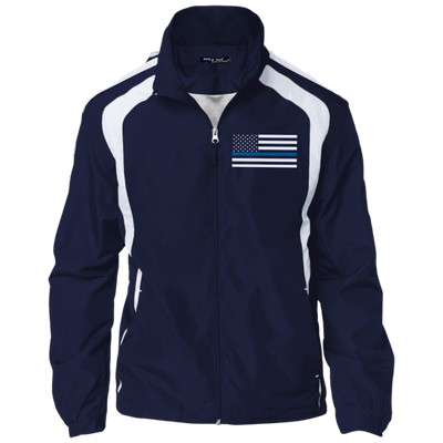 Thin Blue Line Jacket - American Flag - Navy and White