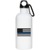 Thin Blue Line American Flag Water Bottle
