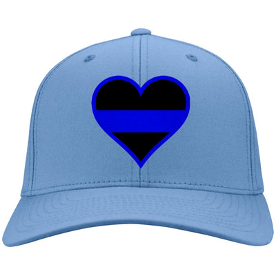 Beautiful Thin Blue Line Heart Hat