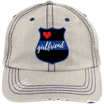 Thin Blue Line Girlfriend - Shield Trucker Cap / Hat