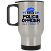I Kissed A Police Officer - Blue Kisses - Travel Mug