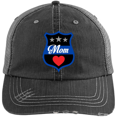 Thin Blue Line Mom Shield Trucker Cap / Hat