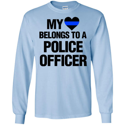 My Heart Belongs To A Police Officer Shirts & Hoodies