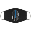 Police - Thin Blue Line Spartan Face Mask