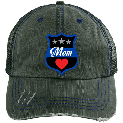 Thin Blue Line Mom Shield Trucker Hat