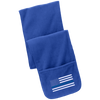 Thin Blue Line Flag Embroidered Fleece Scarf with Pockets