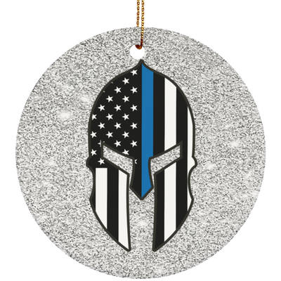 Spartan Police Christmas Ornament - One Sided