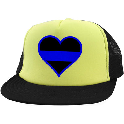 Beautiful Thin Blue Line Heart Hat Style 2