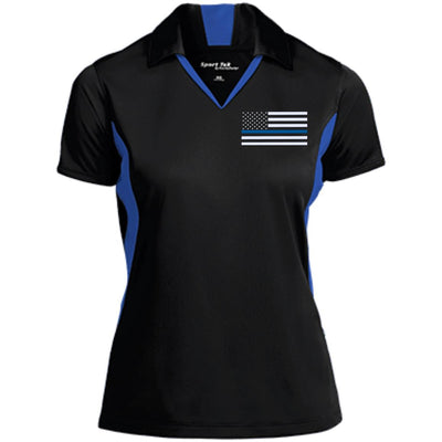 Thin Blue Line Women's Flag Performance Polo Shirt
