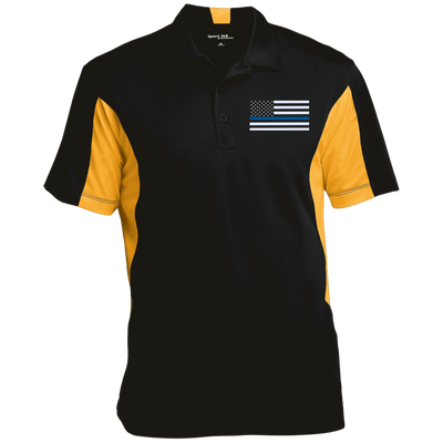Men's Thin Blue Line Flag Performance Polo Shirt