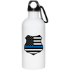 Thin Blue Line American Flag Stainless Steel Water Bottle