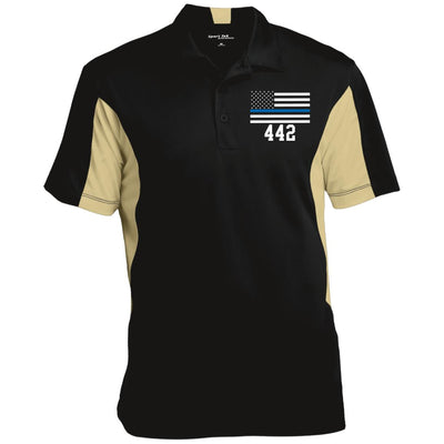 Men's Thin Blue Line Flag Performance Polo Shirt 442