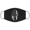 Correctional Officer - Thin Silver Line Spartan Face Mask