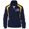 Thin Blue Line Jacket - American Flag - Navy and Yellow