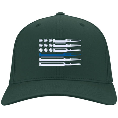 Thin Blue Line Ammo and Bullets Flag Hat