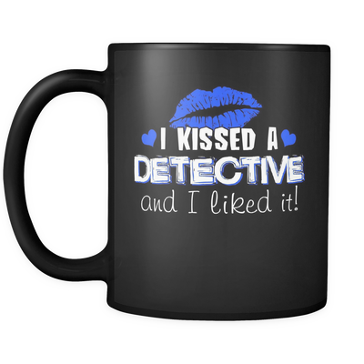 I Kissed A Detective - Blue Kisses- Mug